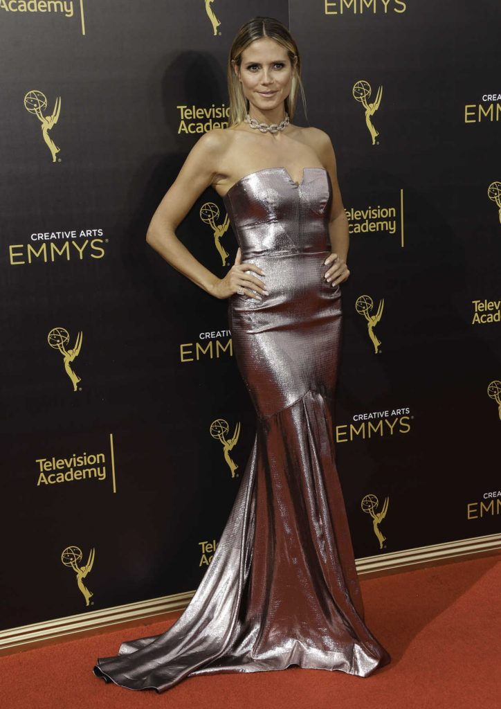 Heidi Klum at the 2016 Creative Arts Emmy Awards at the Microsoft Theater in Los Angeles 09/11/2016-5