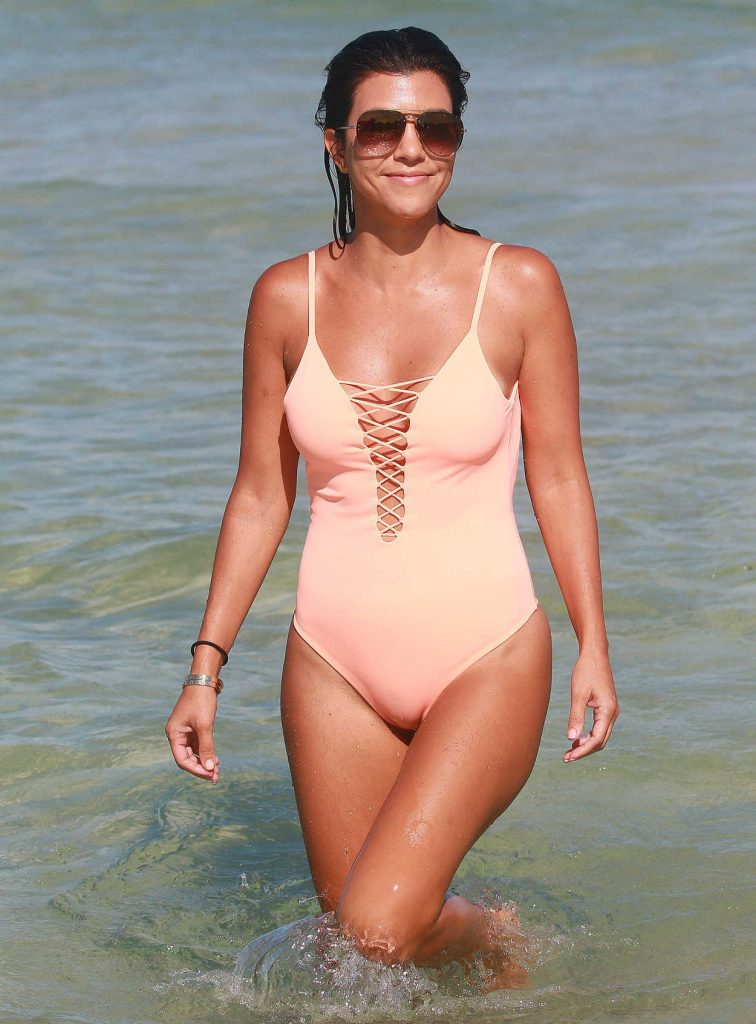 Kourtney Kardashian Wearing a Swimsuit at the Beach in Miami 09/17/2016-1