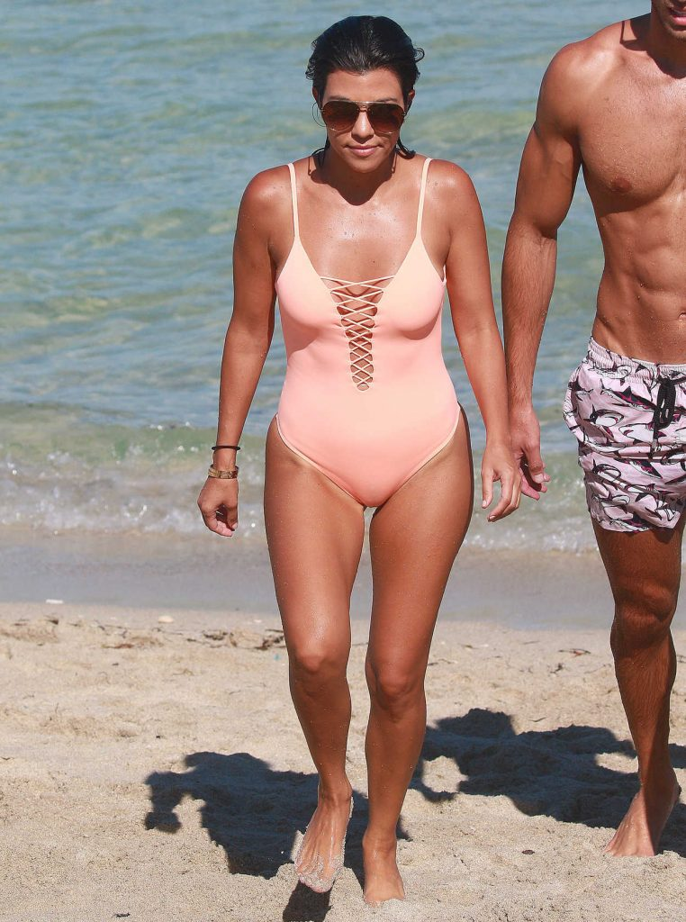 Kourtney Kardashian Wearing a Swimsuit at the Beach in Miami 09/17/2016-3