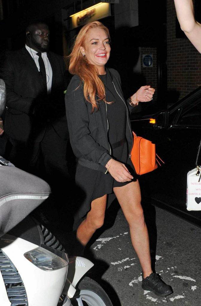 Lindsay Lohan Leaves a Libertine Nightclub in London 09/15/2016-1