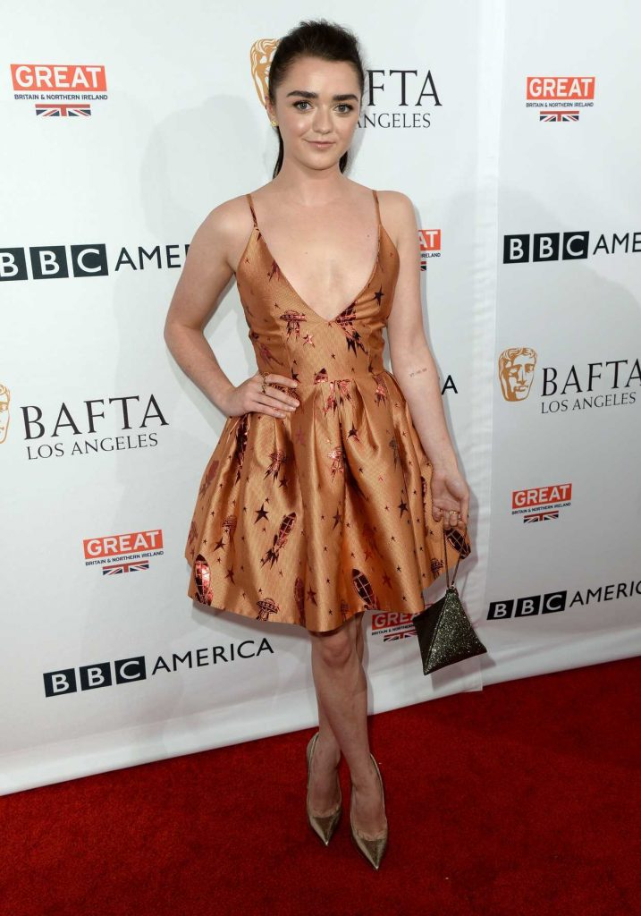 Maisie Williams at the BBC America BAFTA Los Angeles TV Tea Party in West Hollywood 09/17/2016-2