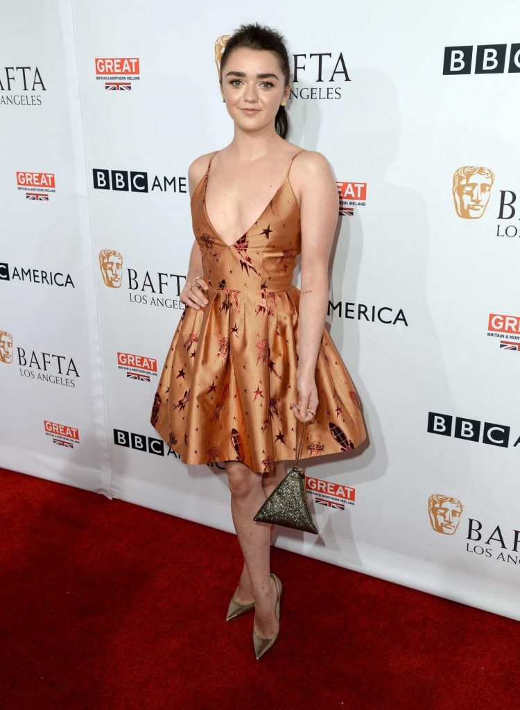 Maisie Williams at the BBC America BAFTA Los Angeles TV Tea Party in West Hollywood 09/17/2016-3
