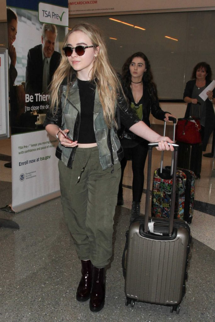 Sabrina Carpenter Was Seen at a LAX Airport in Los Angeles 09/20/2016-5