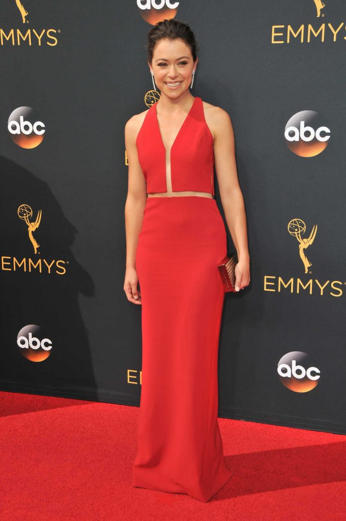 Tatiana Maslany at the 68th Emmy Awards in Los Angeles 09/18/2016-1