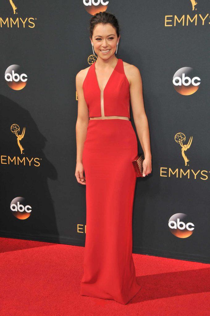 Tatiana Maslany at the 68th Emmy Awards in Los Angeles 09/18/2016-1
