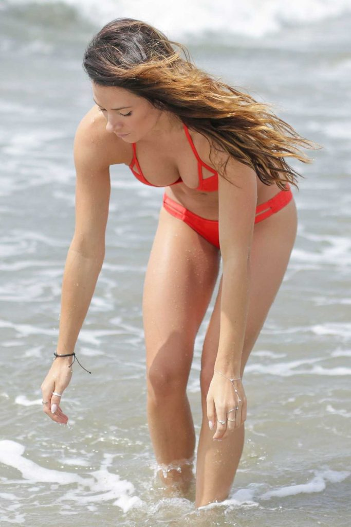 Victoria in red bikini