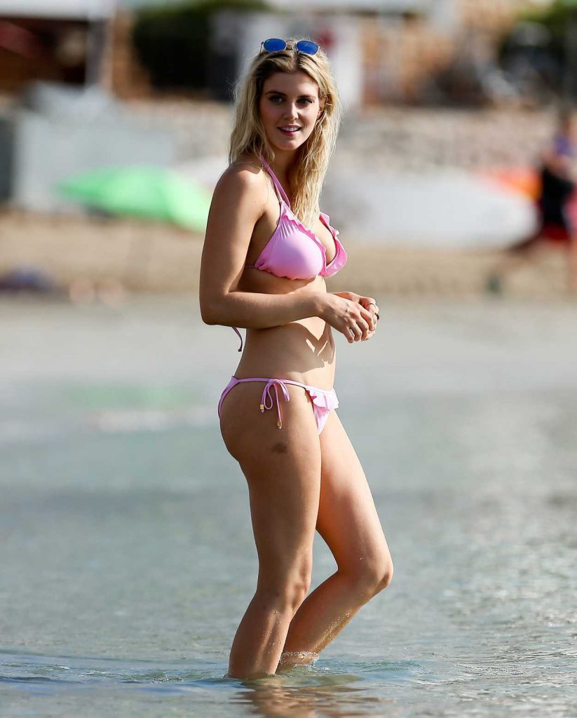 Ashley James in Bikini at the Beach in Marbella 10/17/2016-1