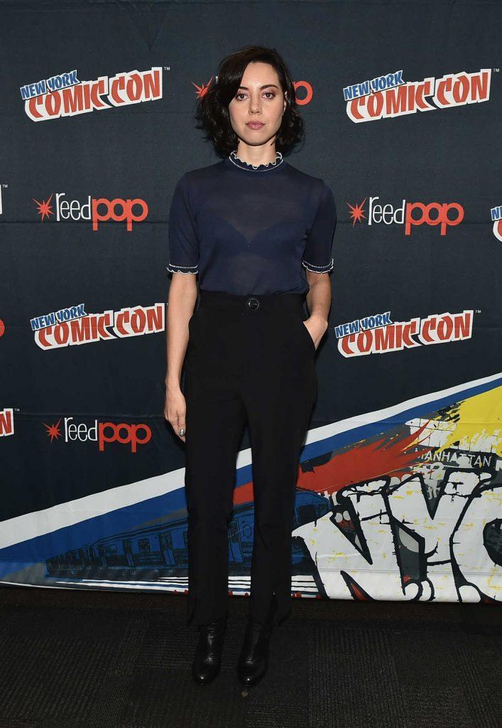 Aubrey Plaza at the New York Comic-Con 10/09/2016-1