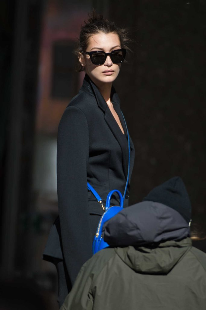 Bella Hadid Was Seen on Set of a Photoshoot in New York City 10/23/2016-1
