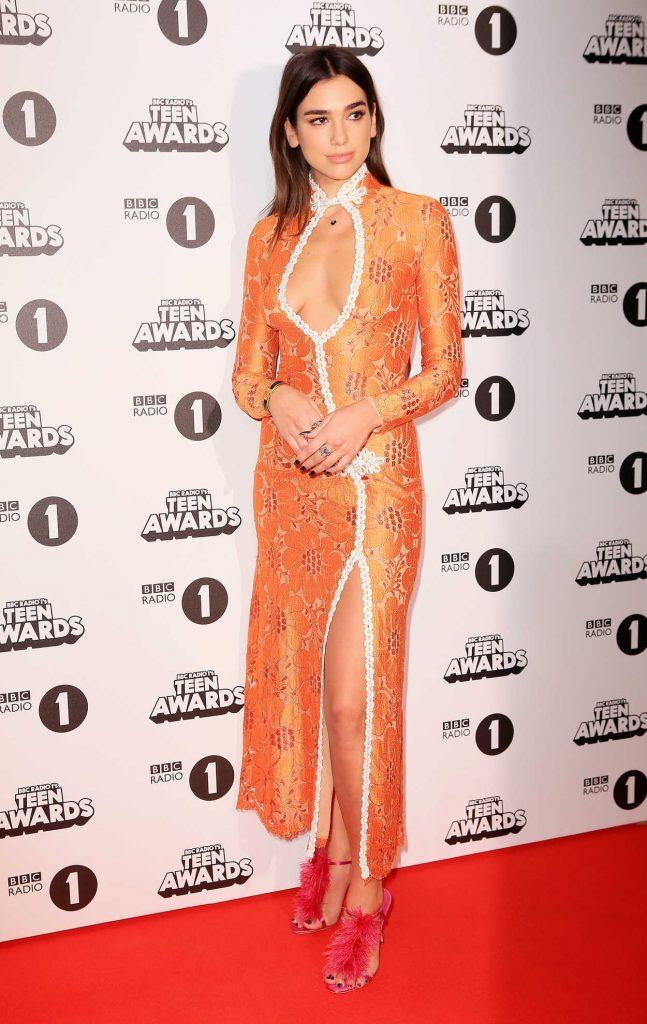Dua Lipa at the BBC Radio 1 Teen Awards in London 10/23/2016-1