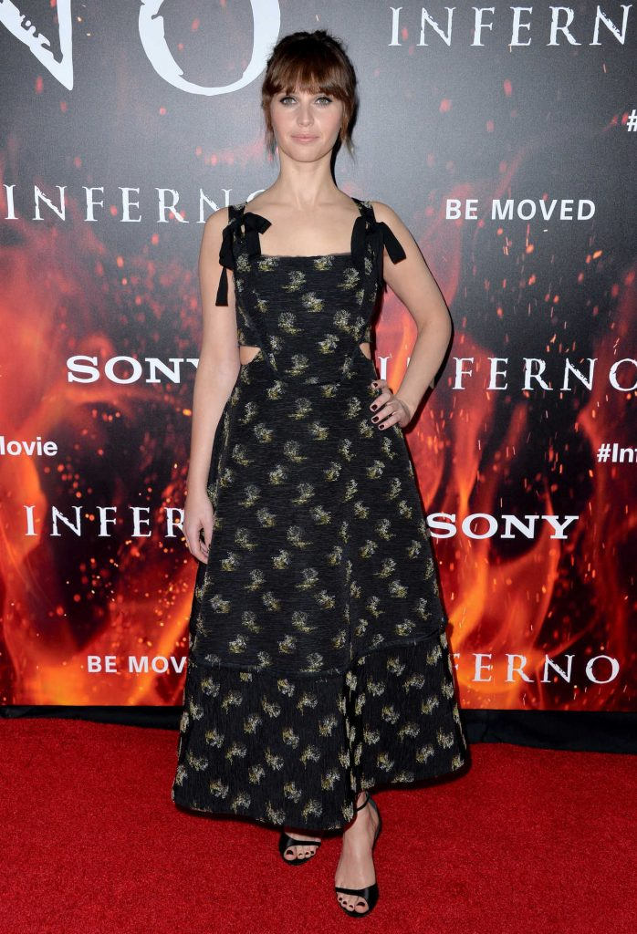 Felicity Jones at Inferno Premiere in Hollywood 10/25/2016-1
