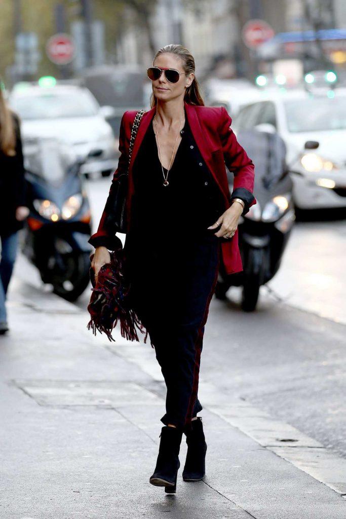 Heidi Klum Was Seen Out in Paris 10/21/2016-1