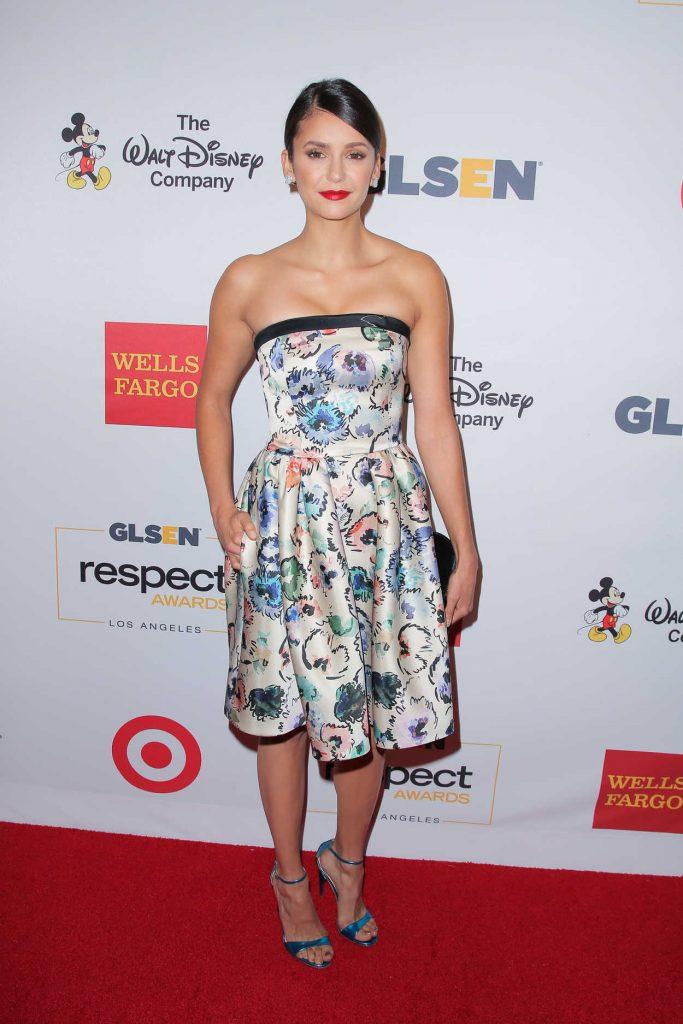 Nina Dobrev at GLSEN Respect Awards in Los Angeles 10/21/2016-1