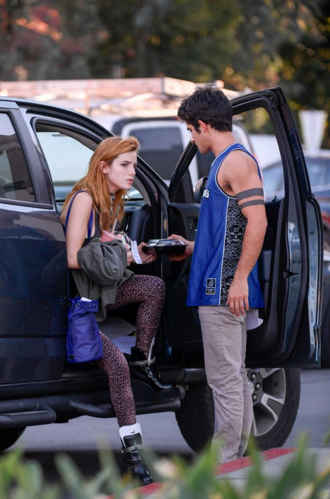 Bella Thorne and Her Boyfriend Tyler Posey Was Seen Out in Encino 11/03/2016-1