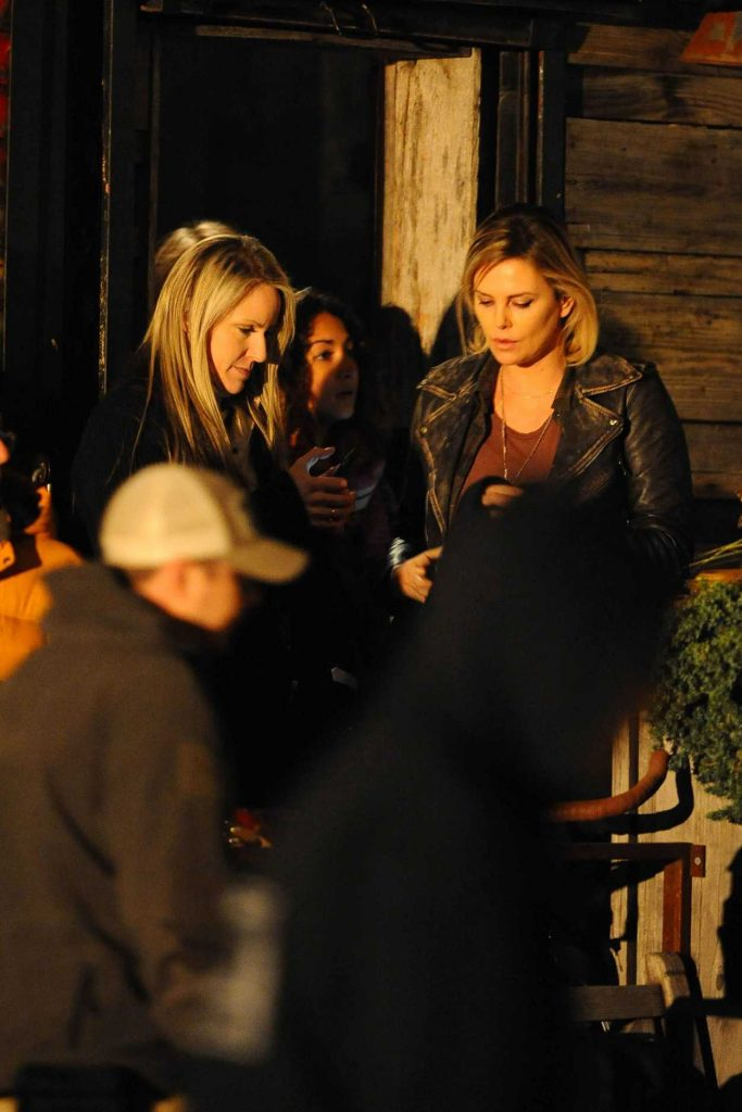 Charlize Theron on set of Tully in Brooklyn 11/07/2016-1