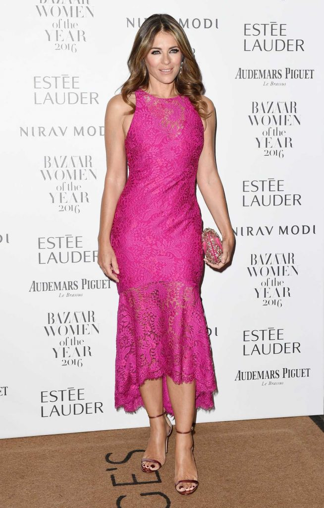 Elizabeth Hurley at the Harper's Bazaar Women of the Year Awards in London 10/31/2016-1