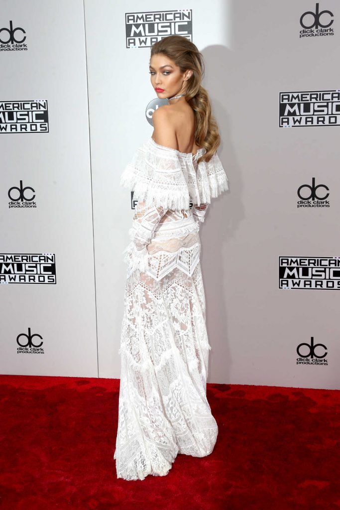 Gigi Hadid at the 2016 American Music Awards at the Microsoft Theater in Los Angeles 11/20/2016-3