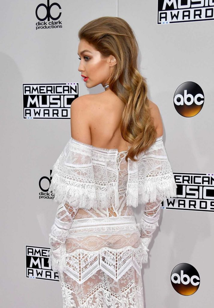Gigi Hadid at the 2016 American Music Awards at the Microsoft Theater in Los Angeles 11/20/2016-4