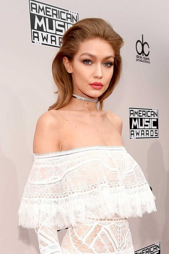 Gigi Hadid at the 2016 American Music Awards at the Microsoft Theater in Los Angeles 11/20/2016-5