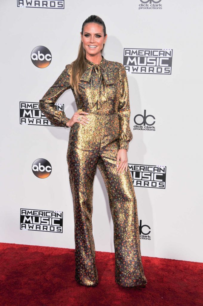 Heidi Klum at the 2016 American Music Awards at the Microsoft Theater in Los Angeles 11/20/2016-1