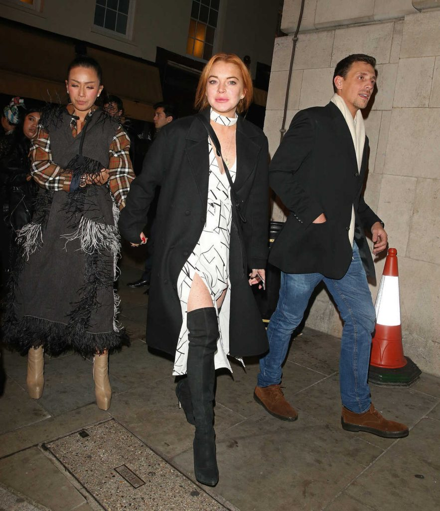 Lindsay Lohan Leaves Loulou's Private Members Club in London 11/04/2016-2