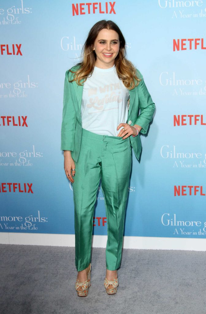 Mae Whitman at the Gilmore Girls: A Year in the Life TV Series Premiere in Los Angeles 11/18/2016-1