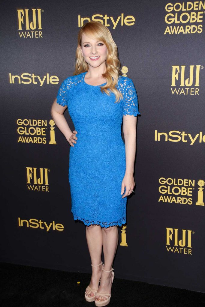 Melissa Rauch at the HFPA and InStyles Celebration of the 2017 Golden Globe Awards Season in West Hollywood 11/10/2016-1