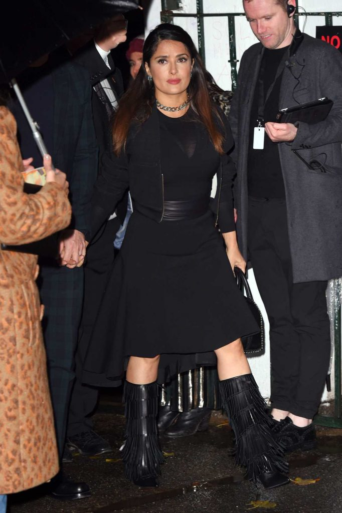 Salma Hayek at the Stella McCartney Resort and Menswear Collections Launch at Abbey Road Studios in London 11/10/2016-1