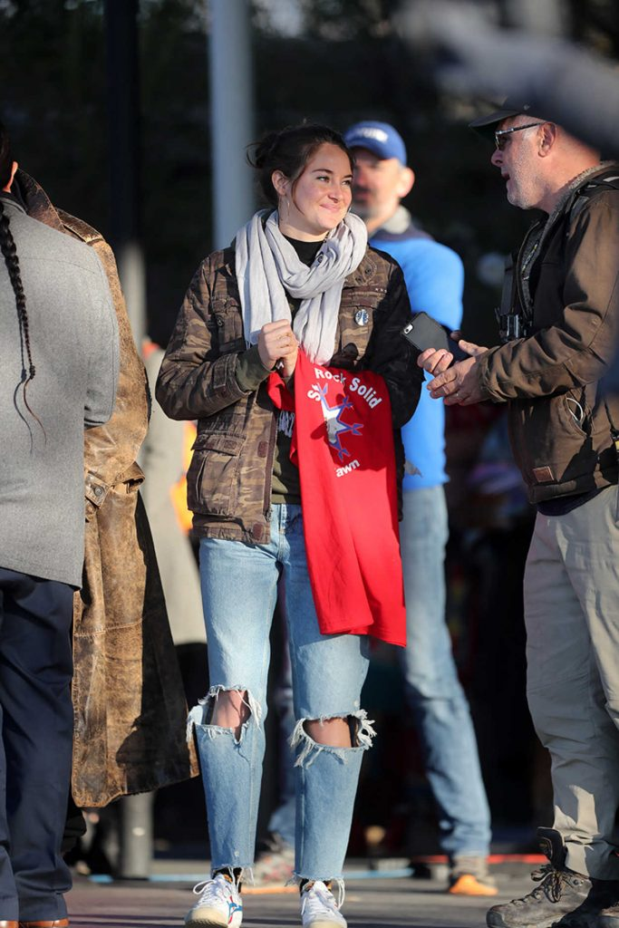 Shailene Woodley at the March on Blocking The Dakota Access Pipeline in Washington 11/27/2016-4