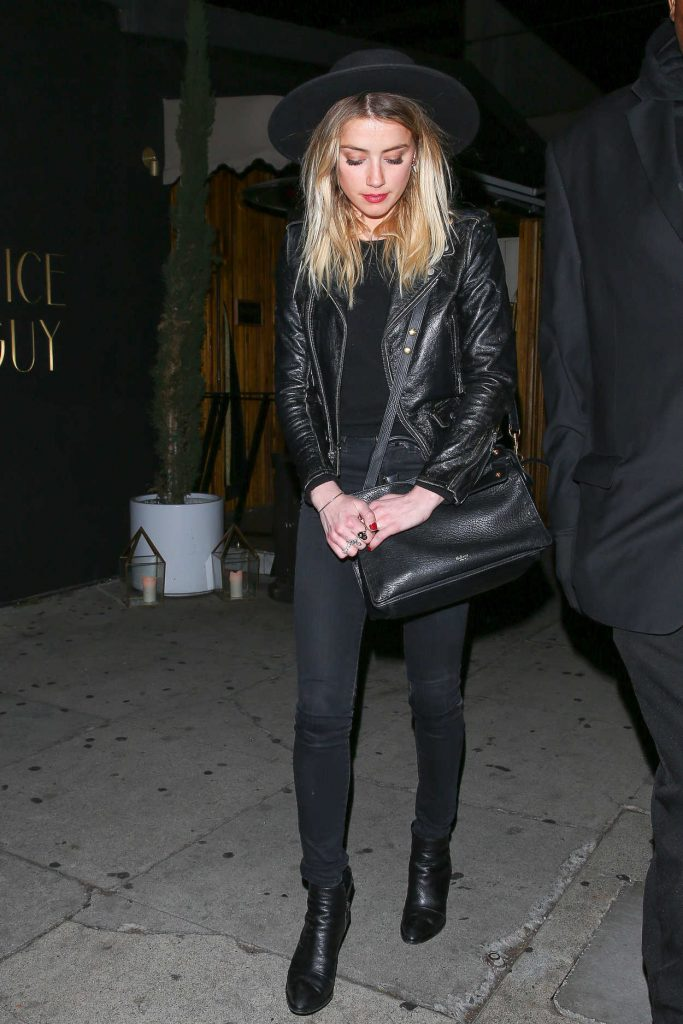 Amber Heard Leaves Rihanna's Christmas Party at the Nice Guy Nightclub in West Hollywood 12/19/2016-3