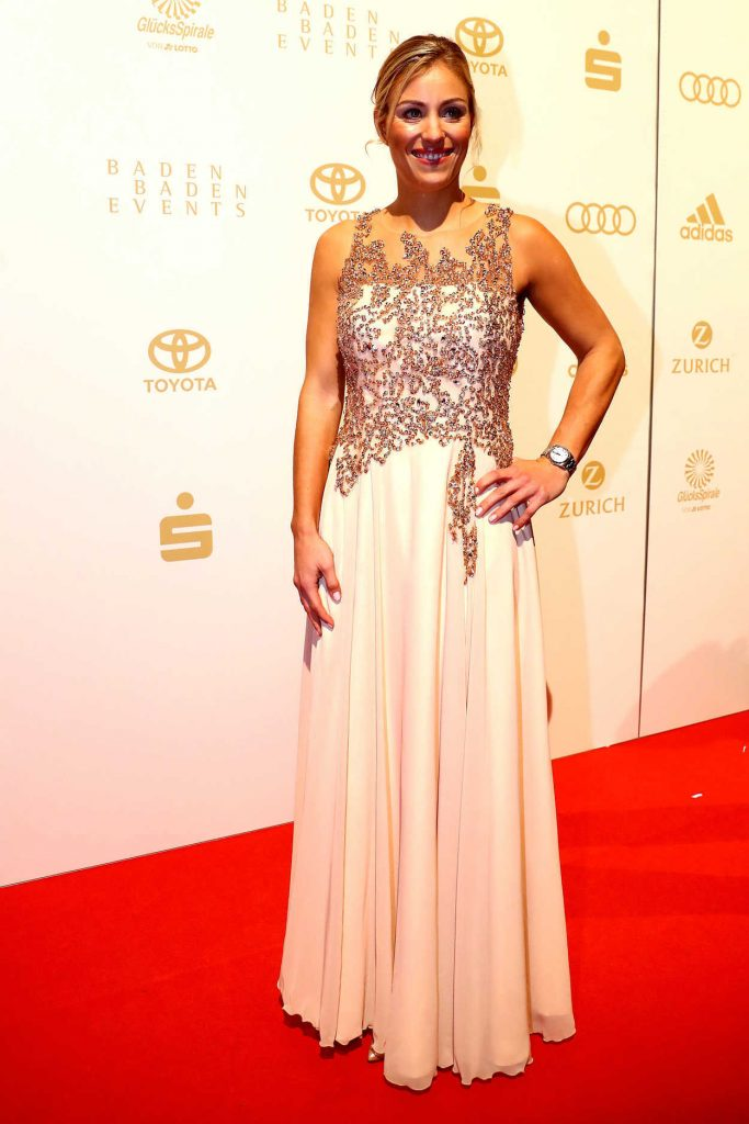 Angelique Kerber at the Sportsman of the Year 2016 Event in Baden-Baden 12/18/2016-1