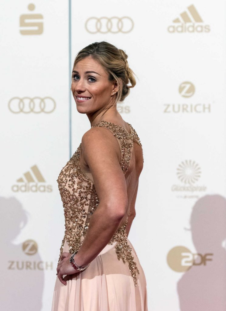 Angelique Kerber at the Sportsman of the Year 2016 Event in Baden-Baden 12/18/2016-3