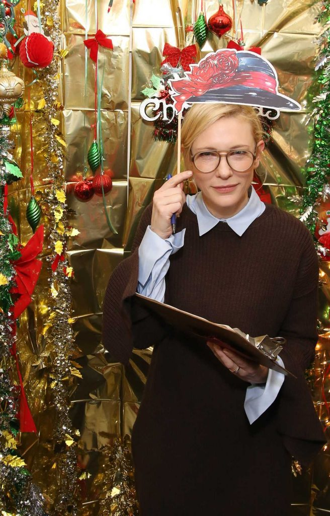 Cate Blanchett at the Hamilton Holiday Cast Door Competition in New York 12/23/2016-1