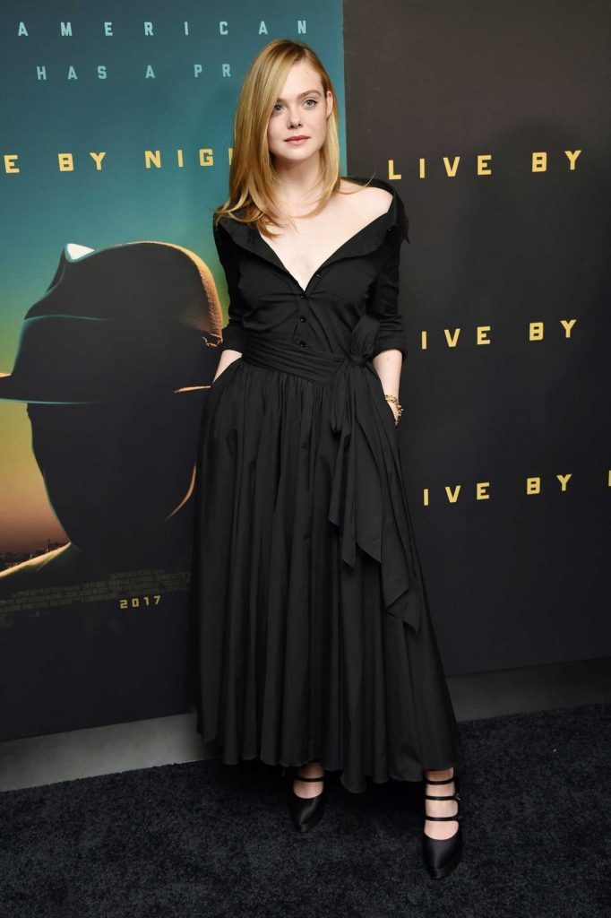 Elle Fanning at the Live by Night Screening in New York 12/13/2016-1