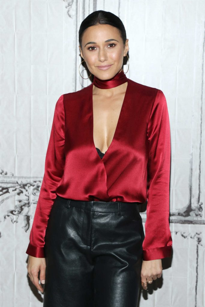 Emmanuelle Chriqui at AOL Build Series in New York 12/08/2016-2