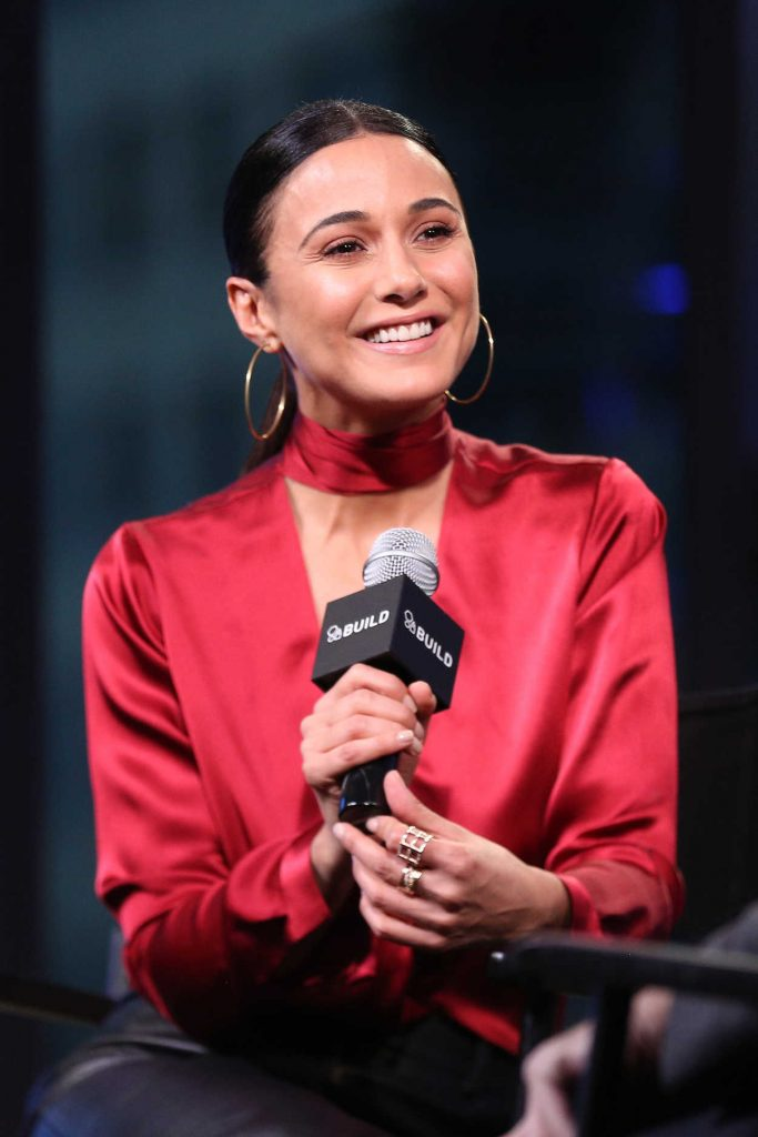 Emmanuelle Chriqui at AOL Build Series in New York 12/08/2016-5
