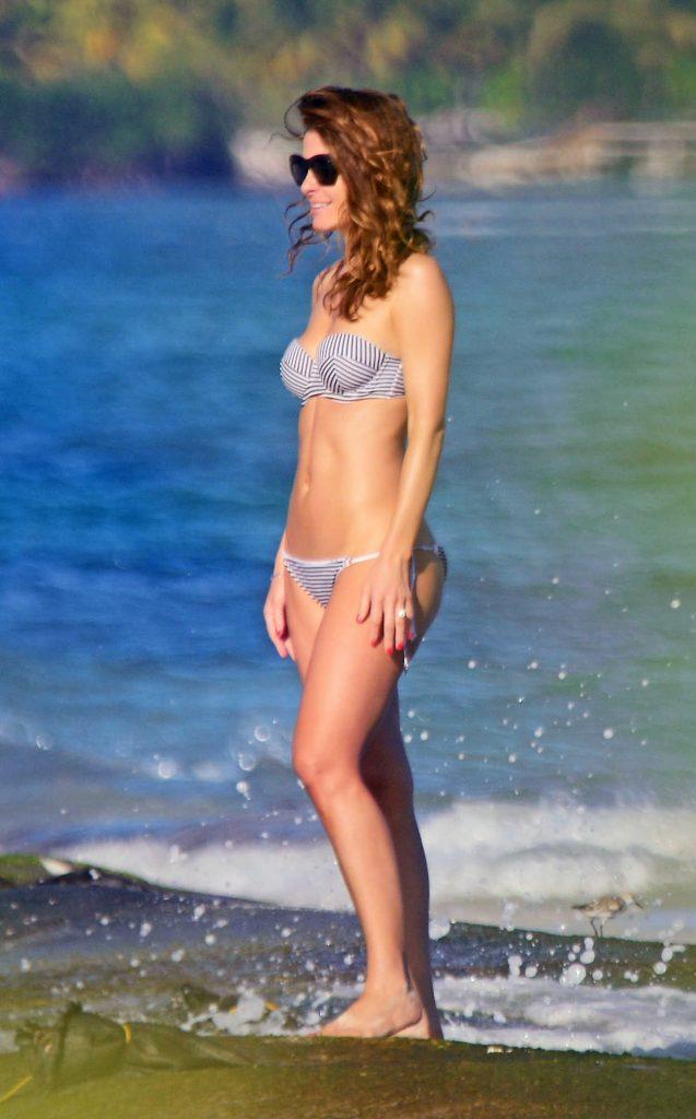 Maria Menounos in Bikini at the Beach in Mexico 12/29/2016-1