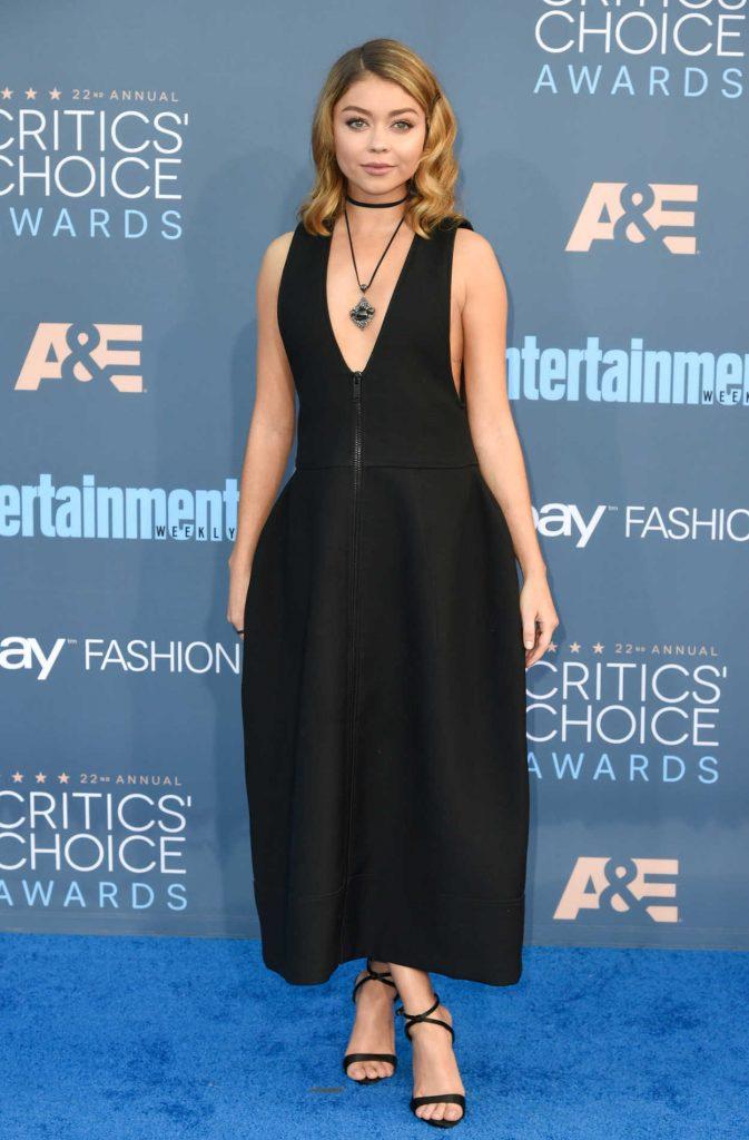 Sarah Hyland at the 22nd Annual Critics' Choice Awards in Santa Monica 12/11/2016-1