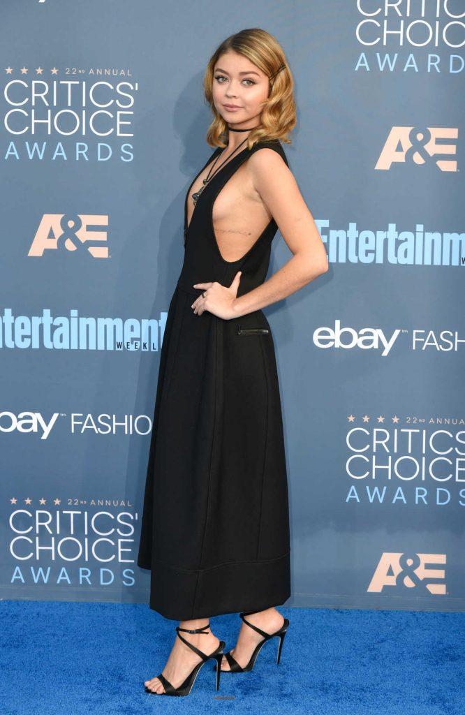 Sarah Hyland at the 22nd Annual Critics' Choice Awards in Santa Monica 12/11/2016-2
