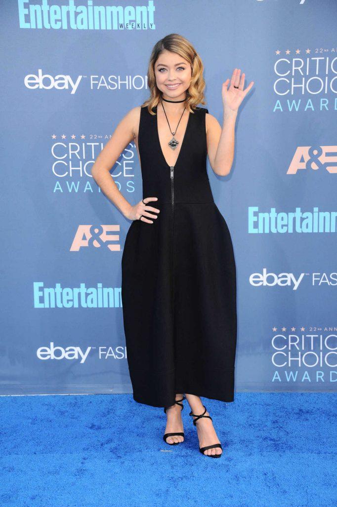 Sarah Hyland at the 22nd Annual Critics' Choice Awards in Santa Monica 12/11/2016-3