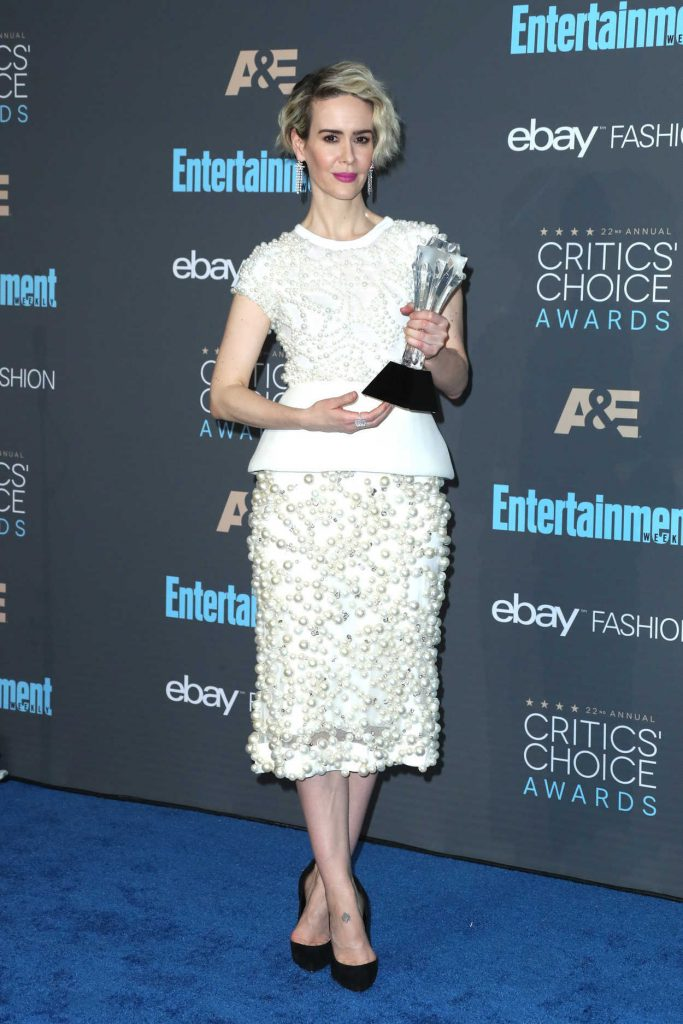 Sarah Paulson at the 22nd Annual Critics' Choice Awards in Santa Monica 12/11/2016-1