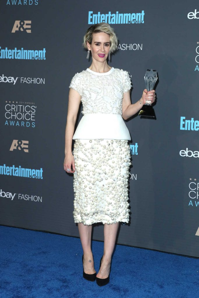 Sarah Paulson at the 22nd Annual Critics' Choice Awards in Santa Monica 12/11/2016-2