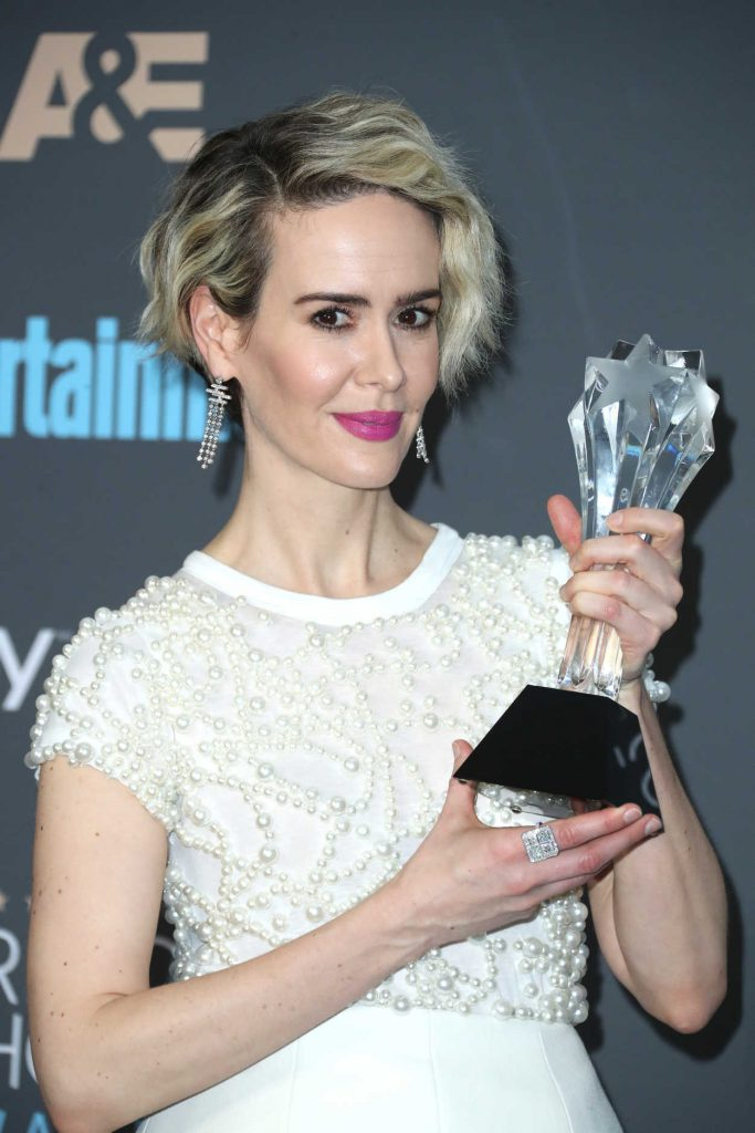Sarah Paulson at the 22nd Annual Critics' Choice Awards in Santa Monica 12/11/2016-4