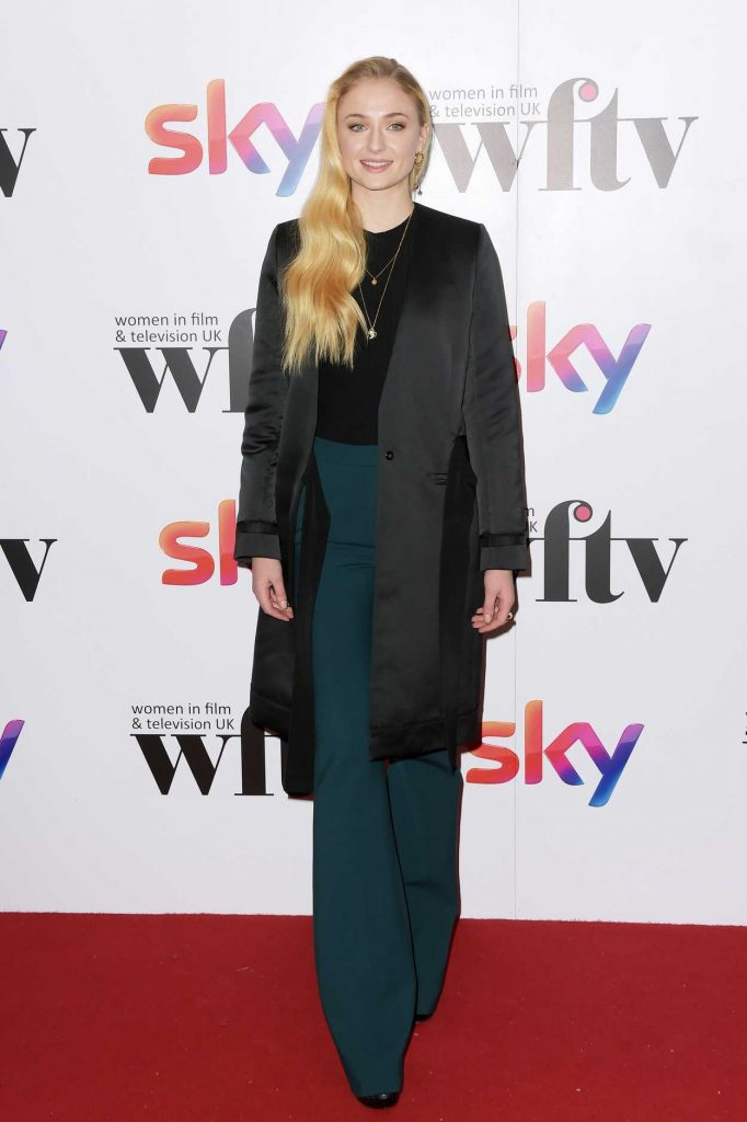 Sophie Turner Attends the Sky Women in Film and TV Awards in London 12/02/2016-1