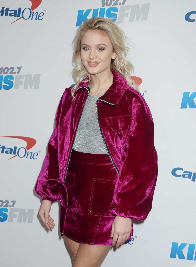 Zara Larsson at iHeartRadio Jingle Ball at the Staples Center in Los Angeles 12/02/2016-3