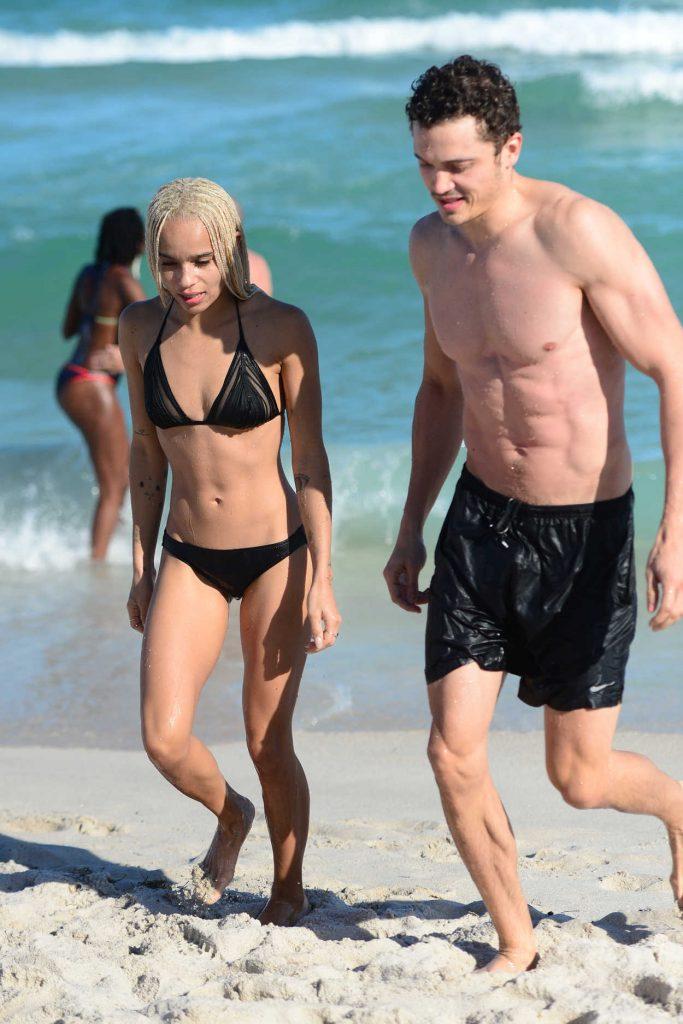 Zoe Kravitz in Bikini at the Beath in Miami 12/24/2016-3