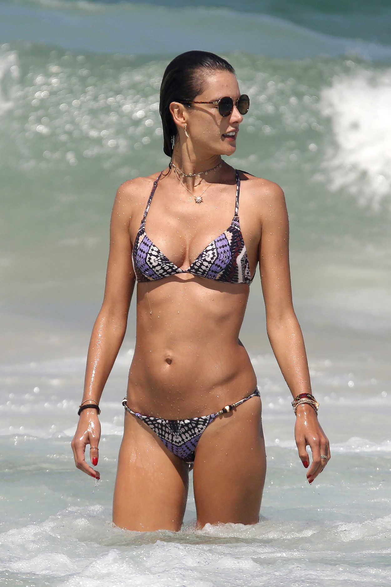 alessandra ambrosio in bikini at the beach in florianopolis brazil 01