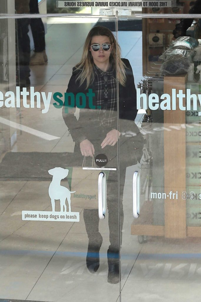 Amber Heard Stops by Healthy Spot Pet Store in West Hollywood 01/23/2017-2