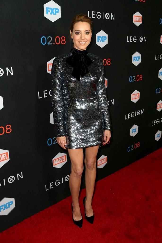Aubrey Plaza at the Legion TV Series Premiere in Los Angeles 01/26/2017-1