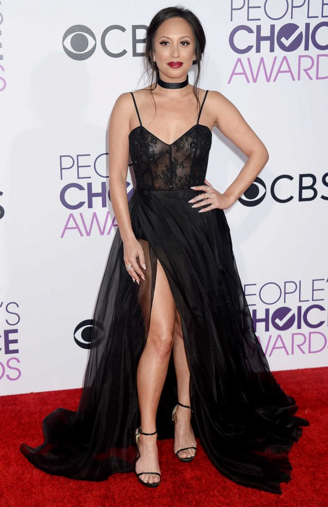 Cheryl Burke at the 43rd Annual People's Choice Awards in Los Angeles 01/18/2017-1